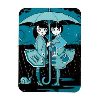 Rainy Day in Blue Magnet