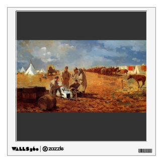Rainy Day in Camp by Winslow Homer Wall Skins