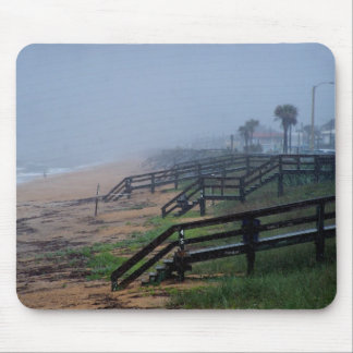 Rainy Day in Flagler Beach Florida Mouse Pad