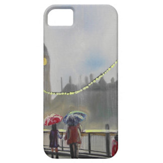 Rainy day in London couple with an umbrella iPhone SE/5/5s Case