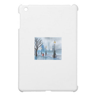 Rainy day in London Thames painting by G Bruce iPad Mini Cover