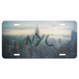 Rainy Day in NYC License Plate