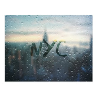 Rainy Day in NYC Postcard
