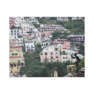 Rainy day in Positano Canvas Print
