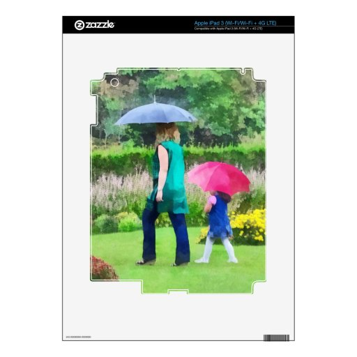 Rainy Day in the Garden iPad 3 Decal