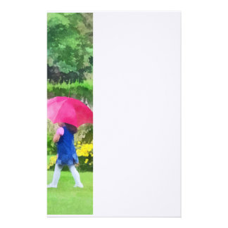 Rainy Day in the Garden Stationery