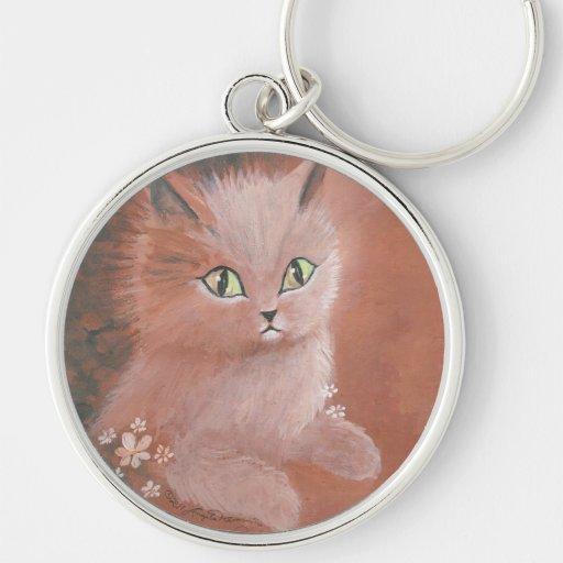 Rainy Day Kitty Cat Keychain