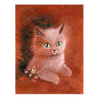 Rainy Day Kitty Cat Postcard
