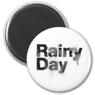 Rainy Day 2 Inch Round Magnet