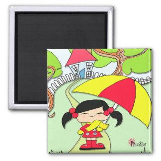 Rainy Day Fridge Magnets
