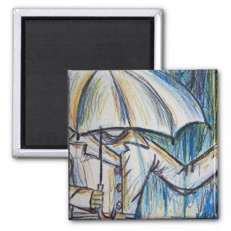 rainy day magnet square