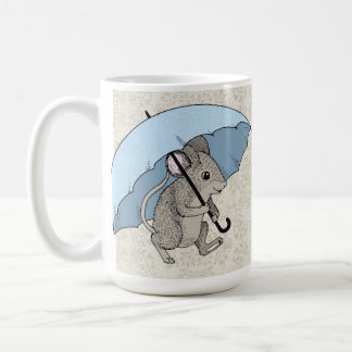 Rainy Day Mouse Classic White Coffee Mug