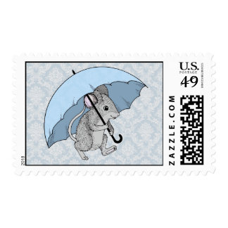 Rainy Day Mouse Postage