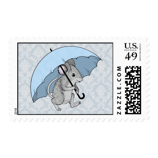 Rainy Day Mouse Stamps