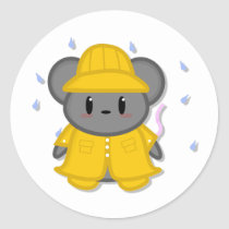 Rainy Day Mouse Sticker