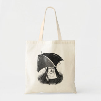 Rainy Day Nun Tote Bag