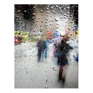 Rainy Day NYC Abstract Postcard