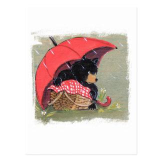 Rainy Day Picnic Postcard