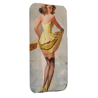 Rainy Day Pin-Up Girl iPhone 3 Case