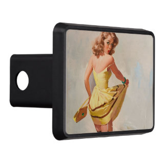 Rainy Day Pin-Up Girl Tow Hitch Cover