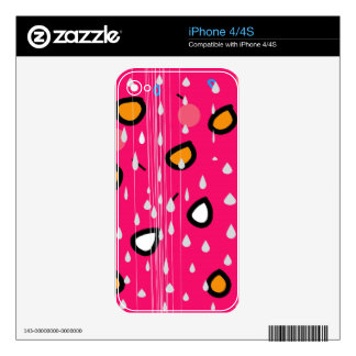 Rainy day - pink iPhone 4S decal