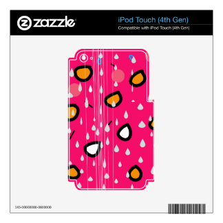 Rainy day - pink iPod touch 4G skin