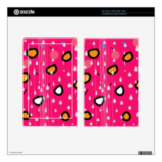 Rainy day - pink kindle fire skin