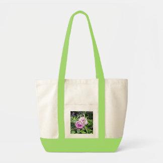 Rainy Day Pink Roses Tote Bag
