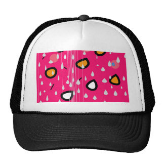 Rainy day - pink trucker hat