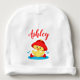 Rainy Day Puddle Duck Red Rain Hat Boots Baby