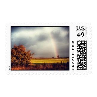Rainy Day Rainbow Postage