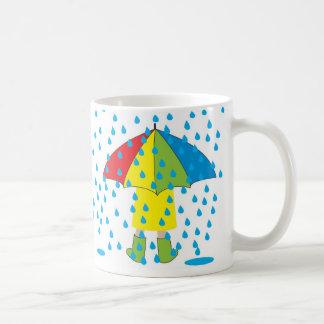 rainy day, Rainy Days go well with Hot Chocolate! Coffee Mug