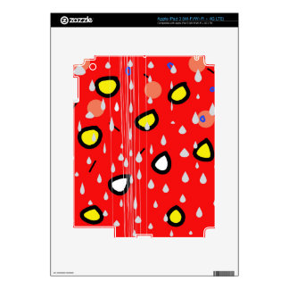 Rainy day - red iPad 3 decal