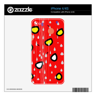 Rainy day - red iPhone 4 decal