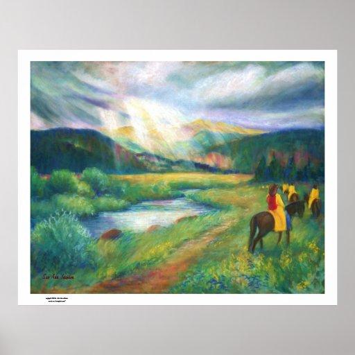Rainy Day Ride, Rocky Mountain National Park Print
