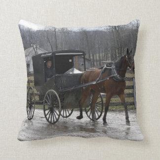 Rainy Day Ride Throw Pillow