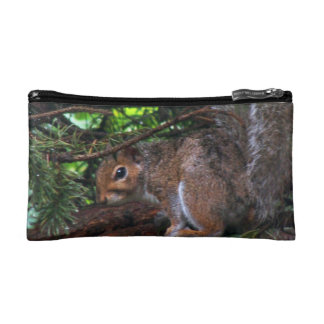 Rainy Day Squirrel Bagettes Bag Makeup Bag