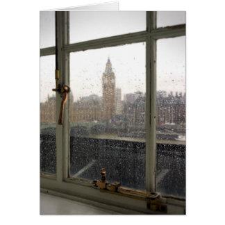 Rainy Day View on Big Ben - London Greeting Card