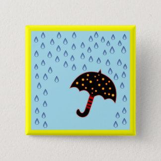 rainy day with umbrella button