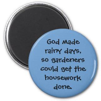 rainy days refrigerator magnets