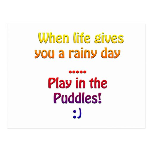Rainy days postcard
