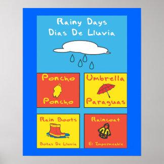 Rainy Days School Poster