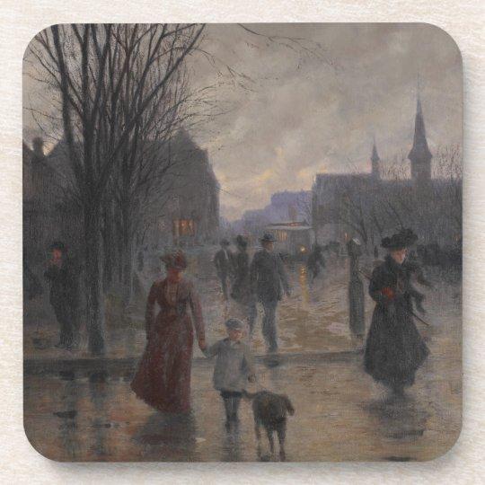 Rainy Evening on Hennepin Avenue, c.1902 Coaster