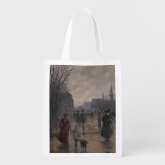 Rainy Evening on Hennepin Avenue, c.1902 Grocery Bag