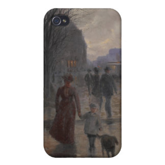 Rainy Evening on Hennepin Avenue, c.1902 Cover For iPhone 4