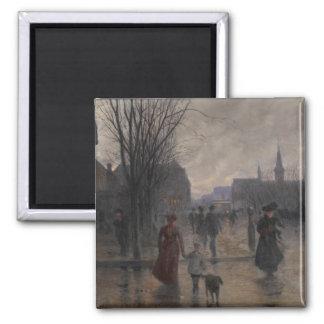 Rainy Evening on Hennepin Avenue, c.1902 Magnet