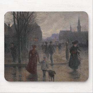 Rainy Evening on Hennepin Avenue, c.1902 Mouse Pad
