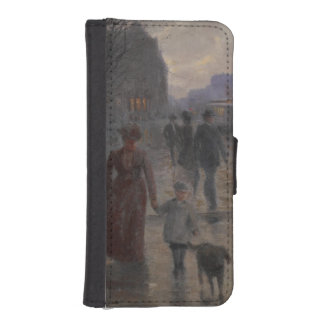 Rainy Evening on Hennepin Avenue, c.1902 iPhone 5 Wallet Case