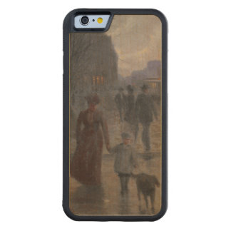 Rainy Evening on Hennepin Avenue, c.1902 Carved® Maple iPhone 6 Bumper Case