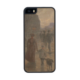 Rainy Evening on Hennepin Avenue, c.1902 Carved® Maple iPhone 5 Case